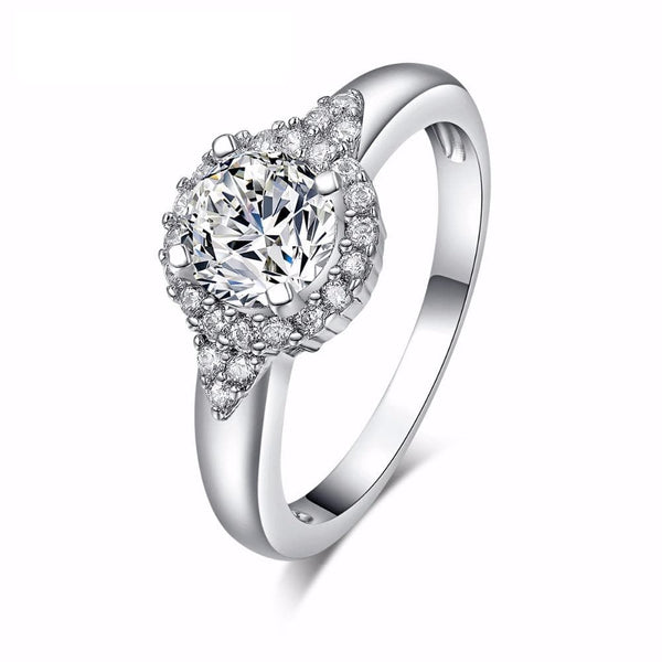 IB5D9THW Silver Plated CZ Ring