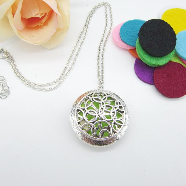 Pendant Locket Essential Oil Diffuser Necklace