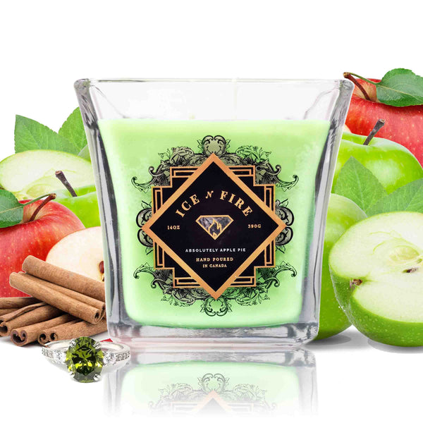 Absolutely Apple Pie Sterling Ring Soy Candle