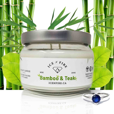Bamboo & Teak Classic Ring Soy Candle