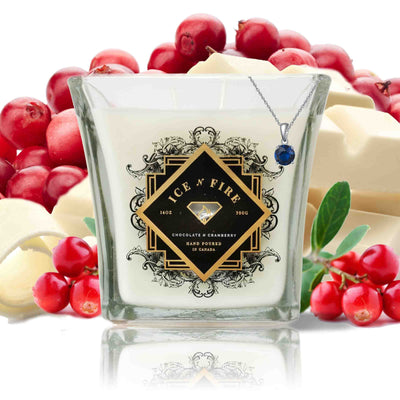 Sterling Necklace Chocolate N Cranberry Soy Candle