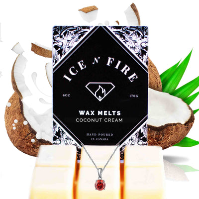 Sterling Necklace Coconut Cream Wax Melt