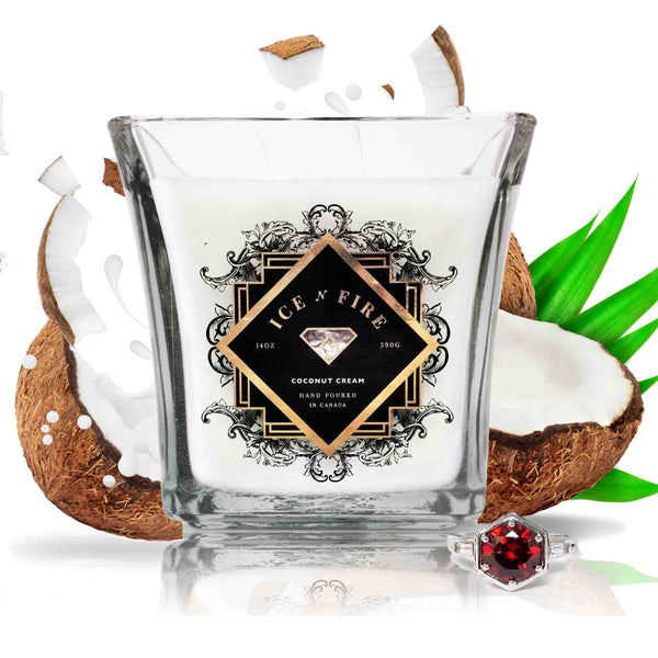 Coconut Cream Sterling Ring Soy Candle