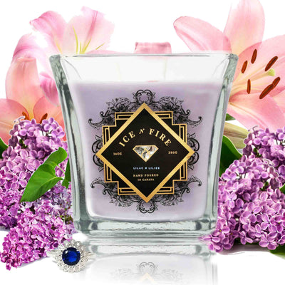 Lilac N Lilies Sterling Ring Soy Candle
