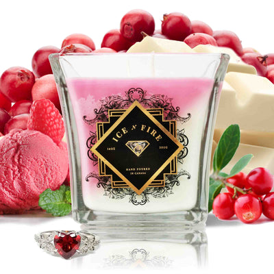 Limited Edition Be My Valentine Layered Sterling Ring Candle