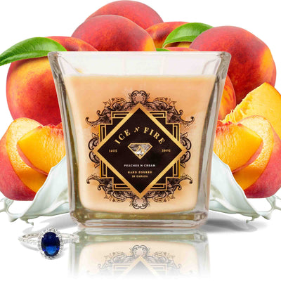 Peaches & Cream Sterling Ring Soy Candle