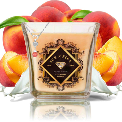 Sterling Necklace Peaches & Cream Soy Candle