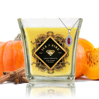 Sterling Necklace Perfect Pumpkin Pie Soy Candle