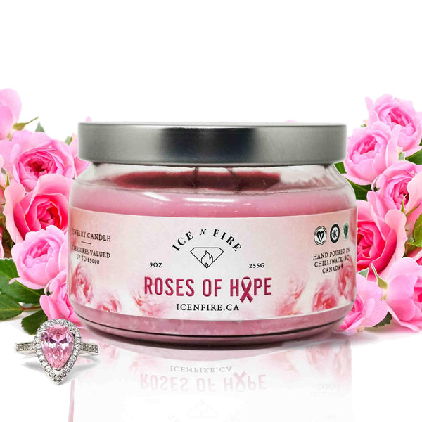Limited Edition Roses Of Hope Classic Jewelry Soy Candle