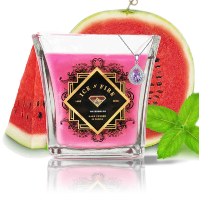 Sterling Necklace Watermelon Soy Candle