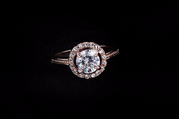 BWQ907E9 Gold Plated CZ Crystal Ring