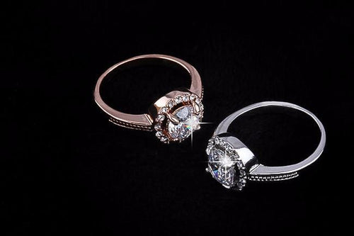 A5RR41CS Silver Plated CZ Crystal Ring