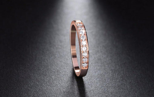 JBDR0ELZ Rose Gold Plated CZ Embedded Band