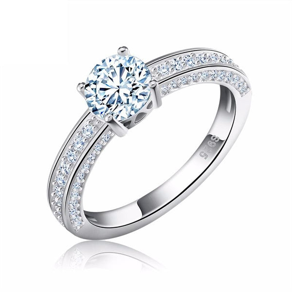 JU1NH1G5 925 Sterling Silver Micro Paved CZ Ring