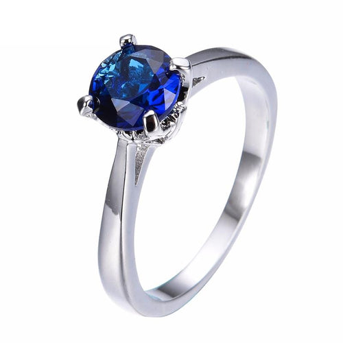JW7XU0QC White Gold Filled Sapphire Ring
