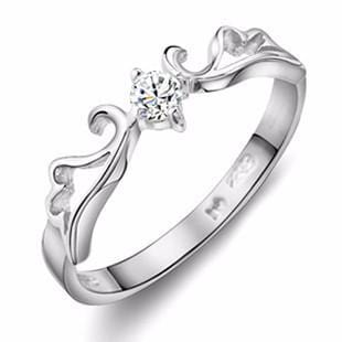 KCLTRJSQ 925 Sterling Silver Swirly CZ Ring