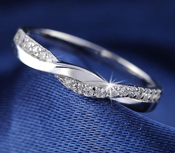 KXMI9I0Y 925 Sterling Silver Infinity CZ Ring