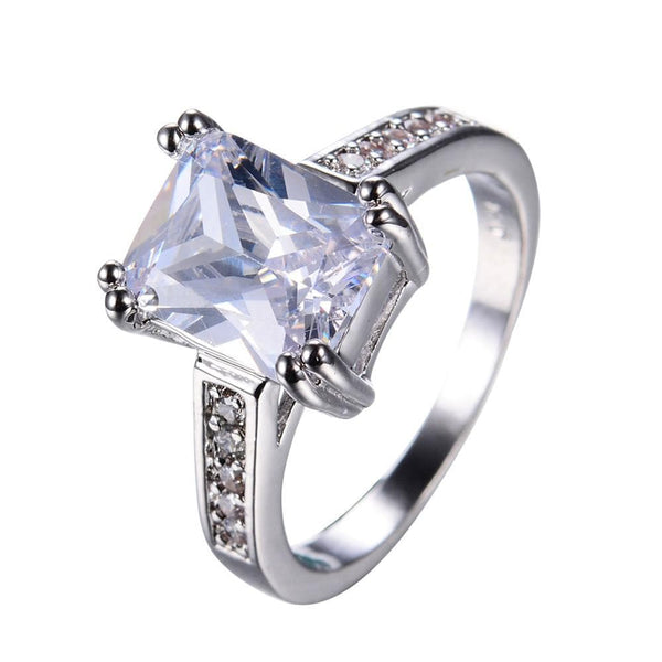 KYN3C9KE 10KT White Gold Filled CZ Ring