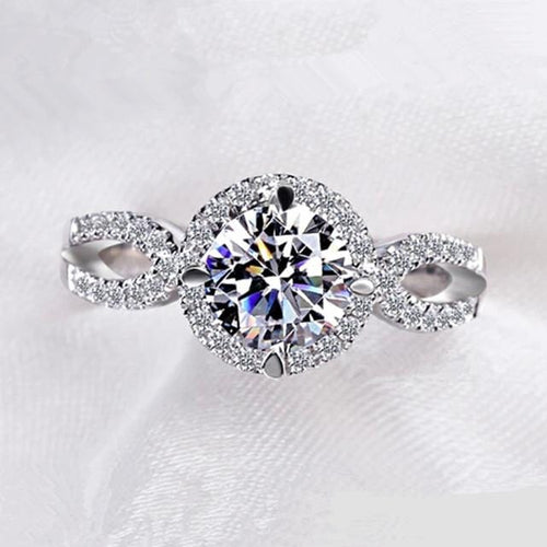 L29369XE Silver Plated CZ Ring