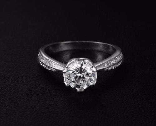 L90L4JUX Silver Plated CZ Ring