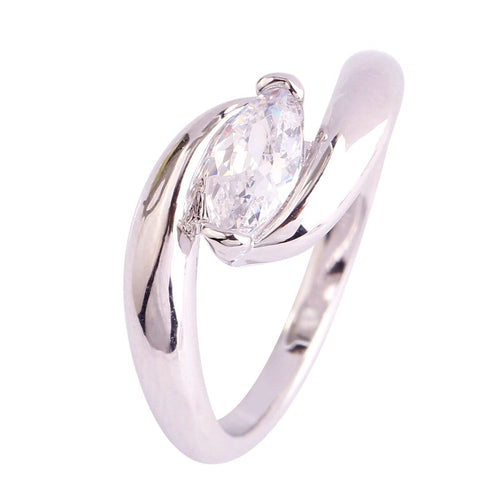 LA5REJQU 18K White Gold Plated CZ Ring