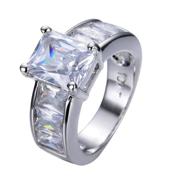 LSBH076G White Gold Filled Crystal White Sapphire Ring