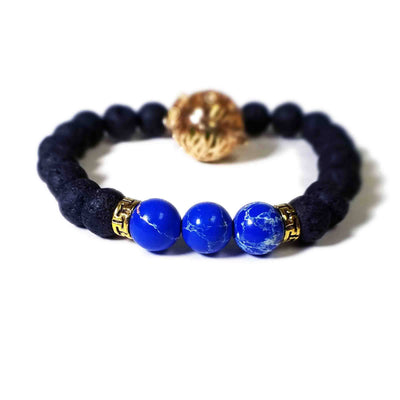 Lava Bead Charm Essential Oil Diffuser Bracelet Style 2