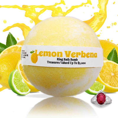 Lemon Verbena Jewelry Bath Bomb