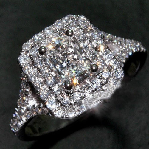 N2SR8EDG 10KT White Gold Filled Victoria Wieck Inspired CZ Ring