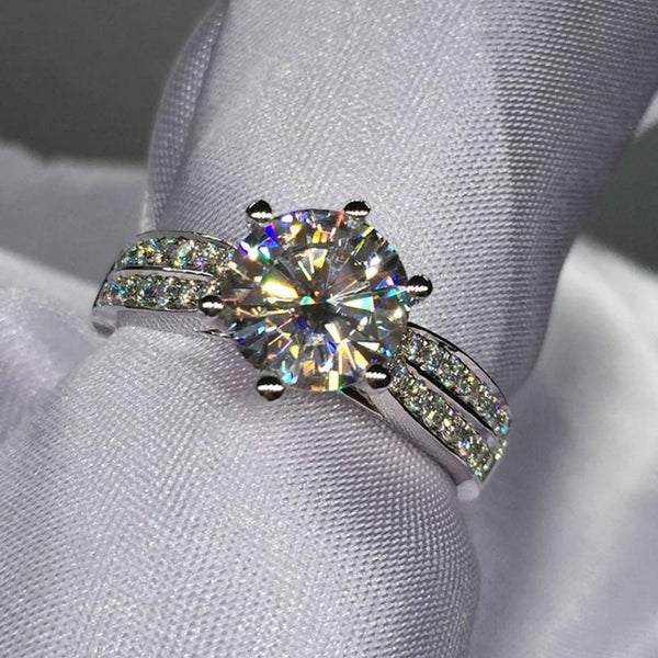 N622HTIO 14KT White Gold Filled 3ct CZ Ring