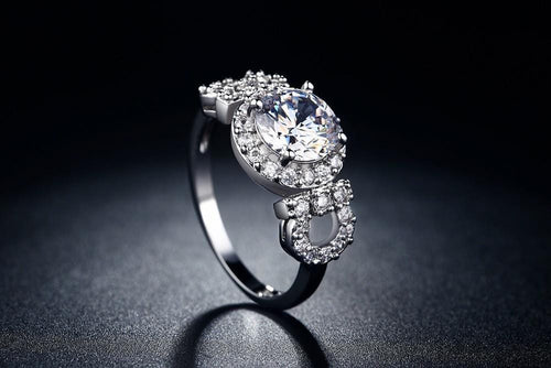 N9X5STA0 White Gold Plated CZ Ring