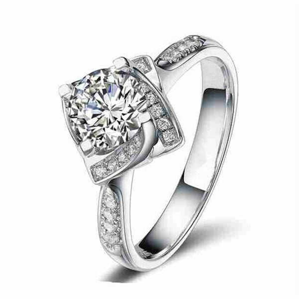 NAP3ZR8G Silver Filled CZ Ring