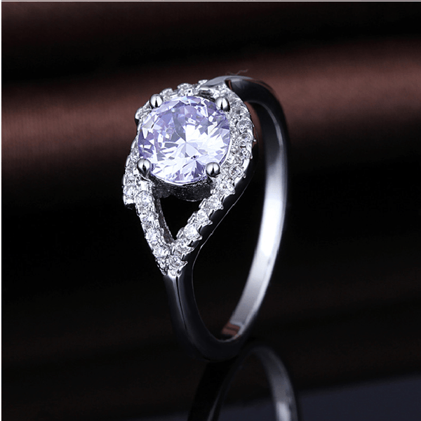 NS36TYMK White Gold Plated CZ Ring
