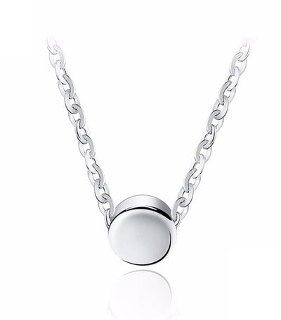 BHQW 925 Sterling Silver Round Pendant Necklace