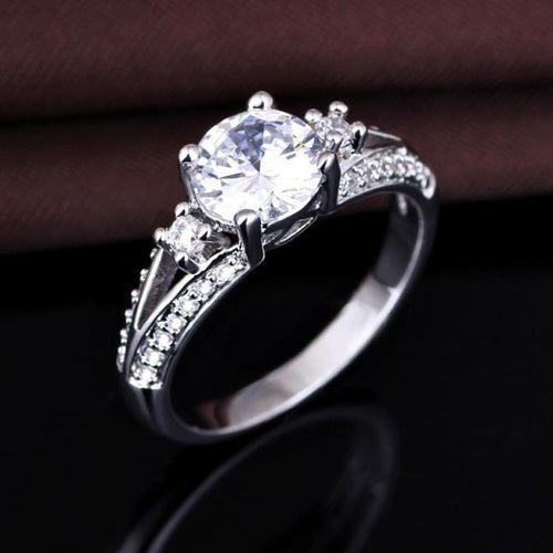 OYD0G4D9 925 Sterling Silver AAA CZ Ring