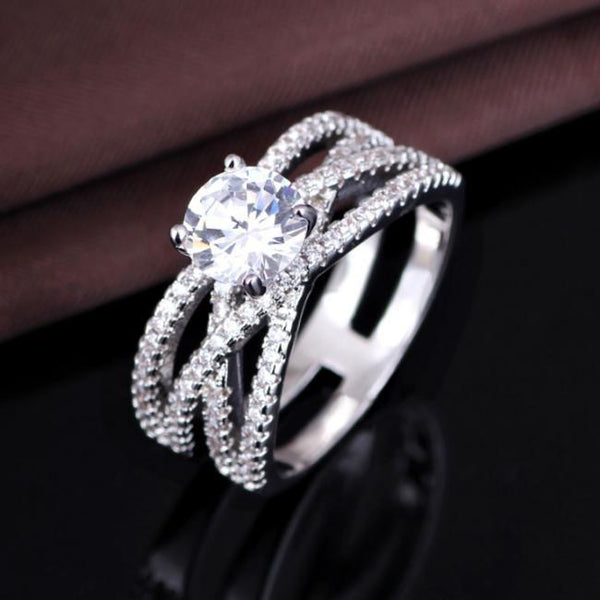 OYMKFO2H 925 Sterling Silver AAA CZ Ring