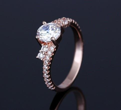 P875P3IP White Gold Plated White CZ Ring