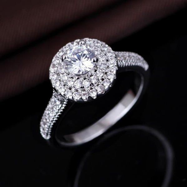 PAYP2JT0 925 Sterling Silver AAA CZ Ring