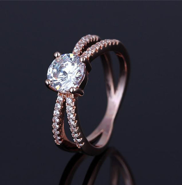 PGLKO8Z9 Yellow Gold Plated CZ Ring