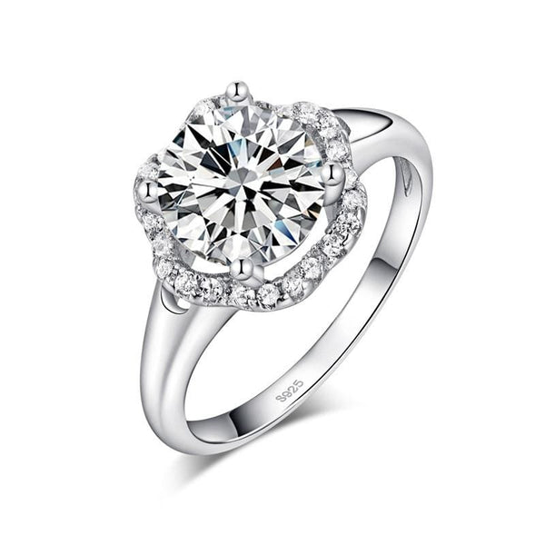 PPCBLDU1 925 Sterling Silver 2CT CZ Ring