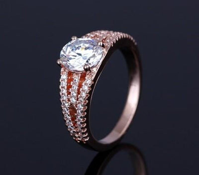 PVR87QP9 Yellow Gold Plated White CZ Ring