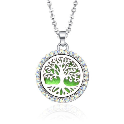 Pendant Locket Stainless Steel Magnetic Essential Oil Diffuser Necklace