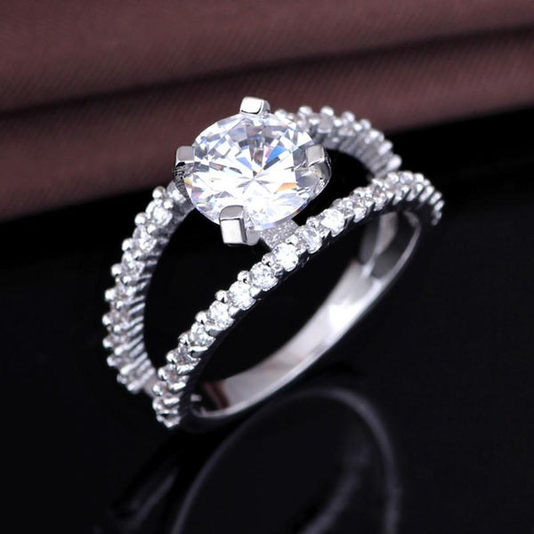 QJF9EWHZ 925 Sterling Silver AAA CZ Ring