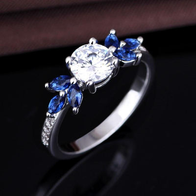 QR6X56JD White Gold Plated AAA CZ Ring