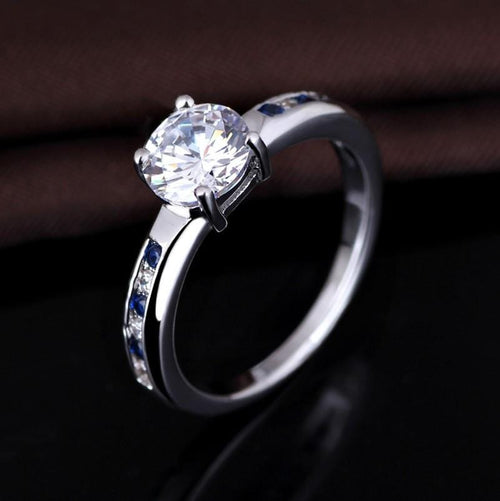 QZCSIFZK White Gold Plated AAA CZ Ring