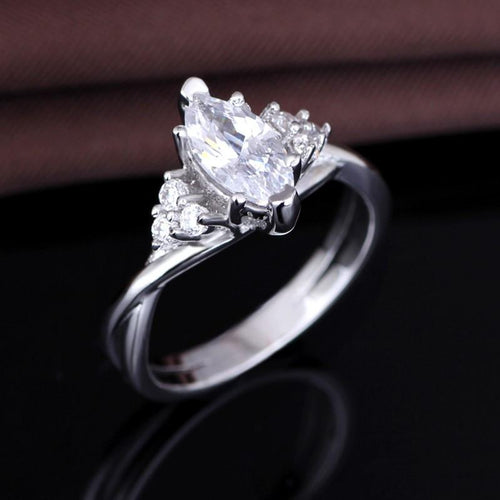R0APMV2T White Gold Plated AAA CZ Ring