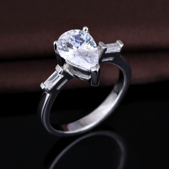 R2D0SA7A 925 Sterling Silver AAA CZ Ring
