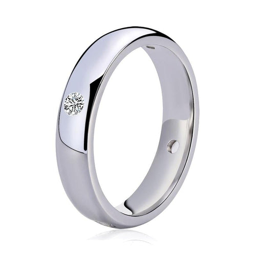 R8DKU05M 925 Sterling Silver CZ Band Ring