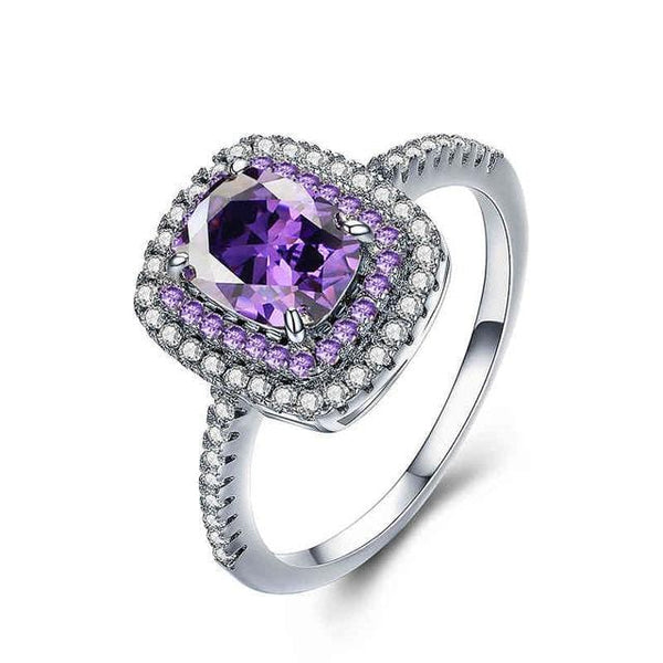 S0VCS2FZ White Gold Plated AAA CZ Ring
