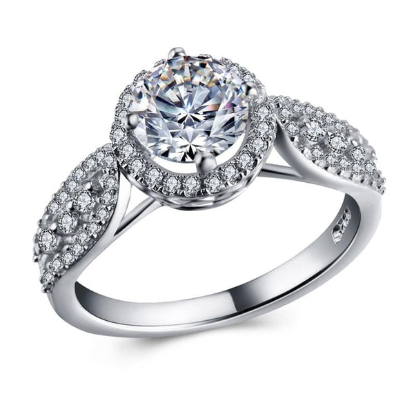 S329PD68 925 Sterling Silver CZ Ring